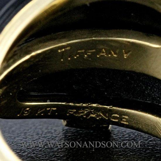 Tiffany Black Coral &Amp; Diamond Ring 4