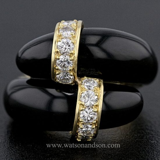 Tiffany Black Coral &Amp; Diamond Ring 1