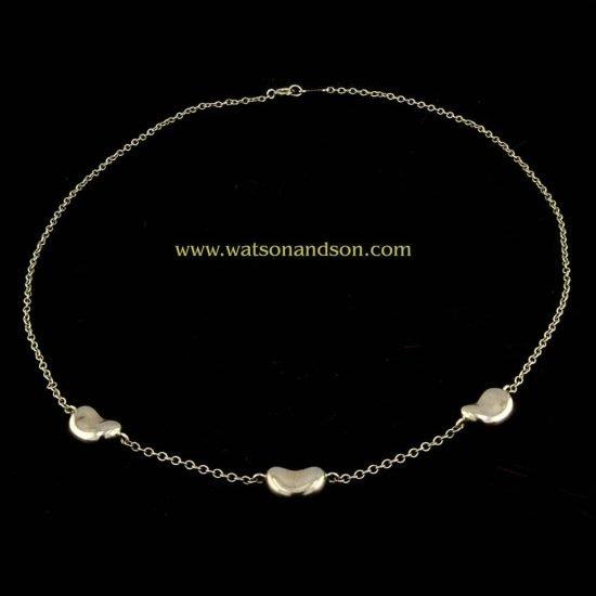 Elsa Peretti For Tiffany Three Bean Necklace 1