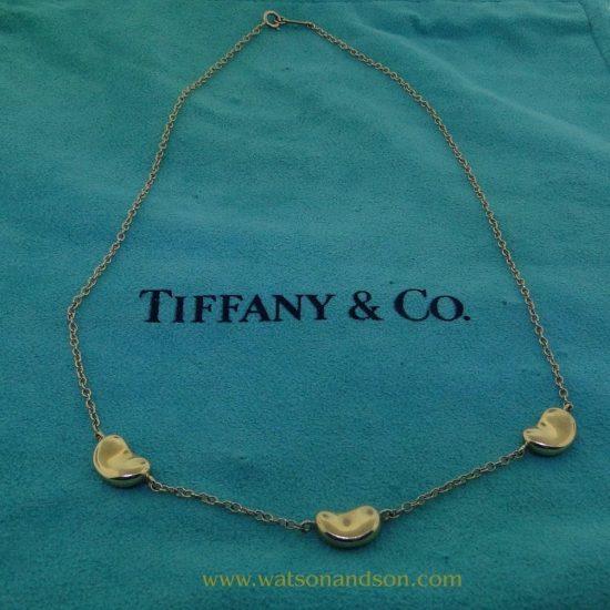 Elsa Peretti For Tiffany Three Bean Necklace 3