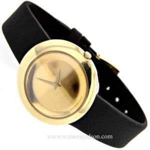 Ladies movado yellow gold strap watch v9597