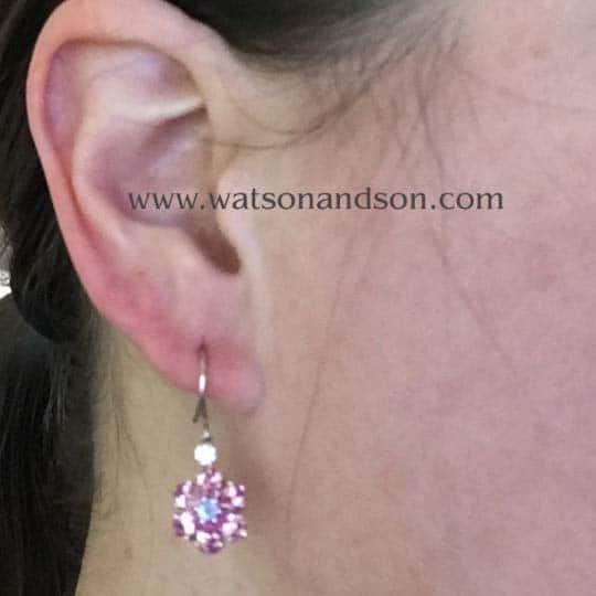 Tiffany &Amp; Co Sapphire Flower Earrings 2