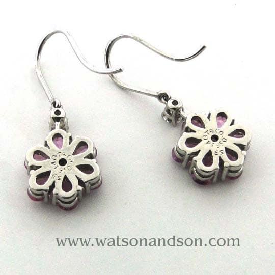 Tiffany &Amp; Co Sapphire Flower Earrings 3