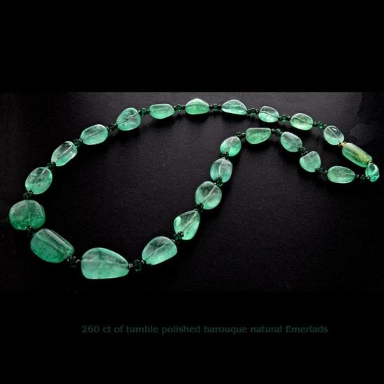 Baroque Polished Natural Emerald Beads 1