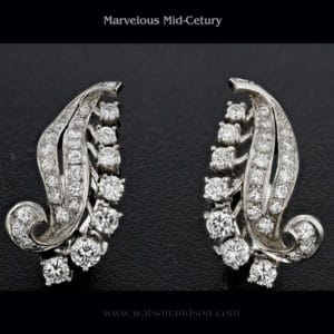 Diamond spray earrings 3592