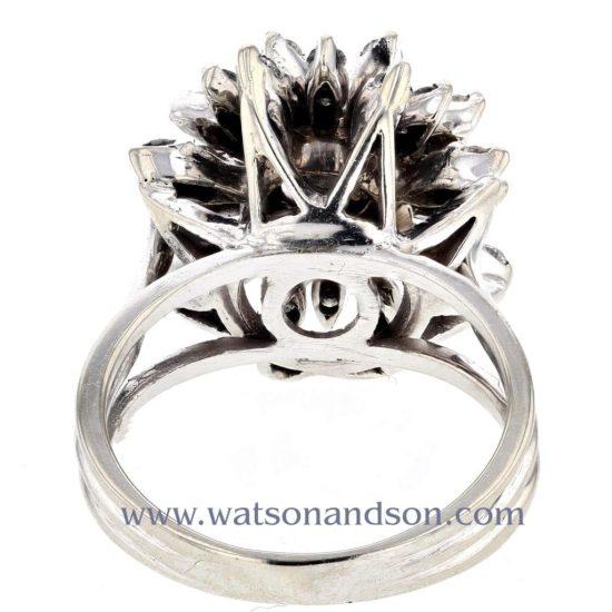 White Gold Diamond Cluster Ring 3