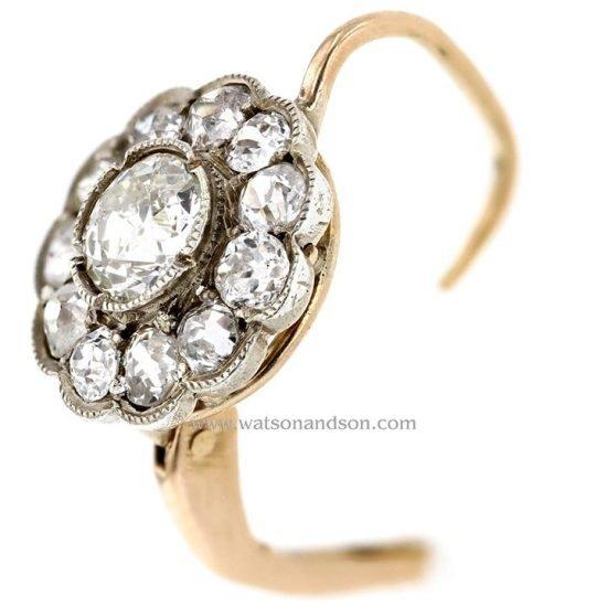 Victorian Diamond Drop Earrings 2