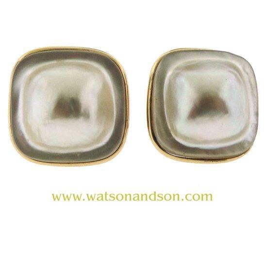 Mabe Pearl Earrings 1
