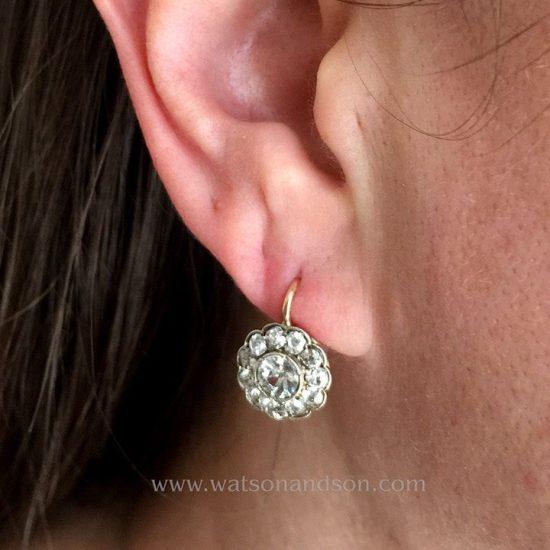 Victorian Diamond Drop Earrings 3