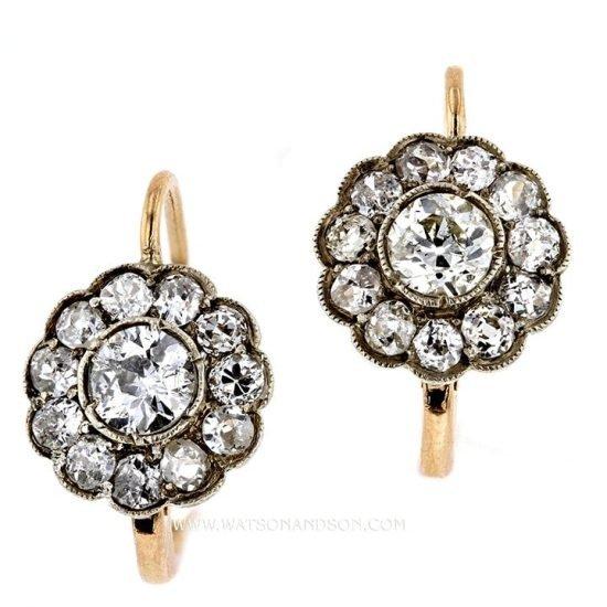 Victorian Diamond Drop Earrings 1
