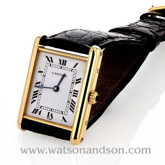 Ladies Cartier Tank Louis Watch 18 Kt Yellow Gold 1