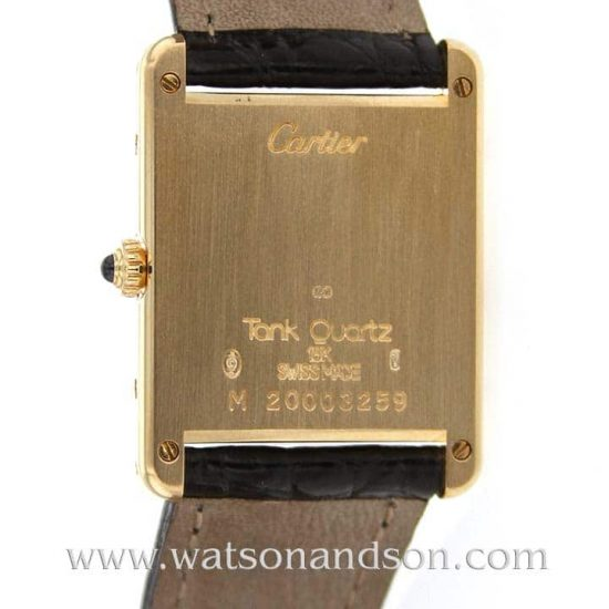 Ladies Cartier Tank Louis Watch 18 Kt Yellow Gold 2