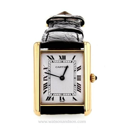 Ladies Cartier Tank Louis Watch 18 Kt Yellow Gold 4