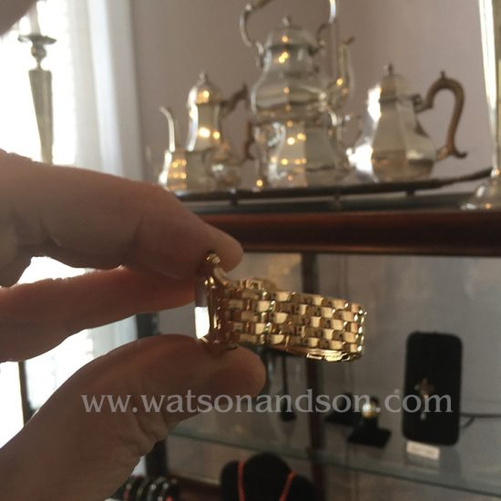 Ladies 18 Kt Yellow Gold Cartier Panther Bracelet Watch 4