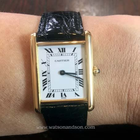 Ladies Cartier Tank Louis Watch 18 Kt Yellow Gold 5