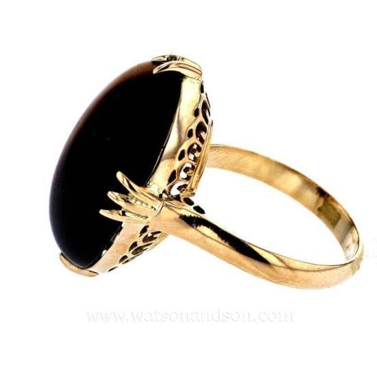 Cabochon Cut Tigers Eye Ring 4
