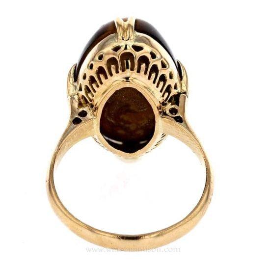 Cabochon Cut Tigers Eye Ring 5