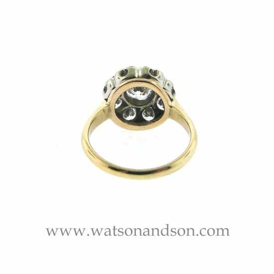 14k Vintage Halo Diamond Ring 4