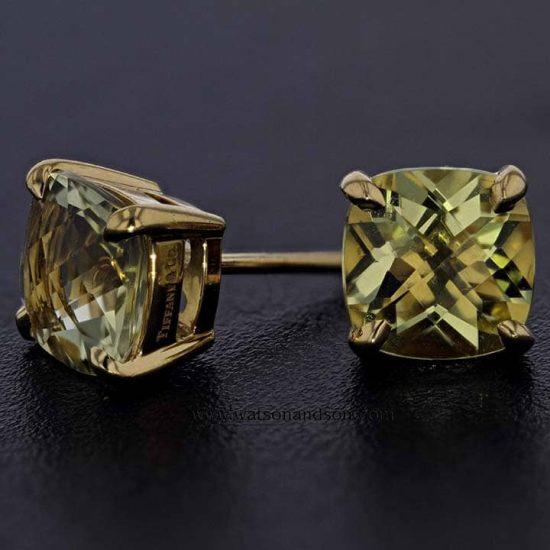 18K &Quot;Tiffany Sparkler&Quot; Citrine Earrings 3