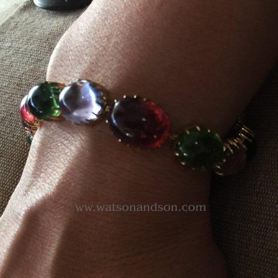 Cabochon Cut Rainbow Candy Bracelet 2