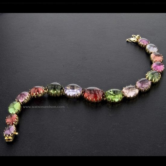 Cabochon Cut Rainbow Candy Bracelet 1