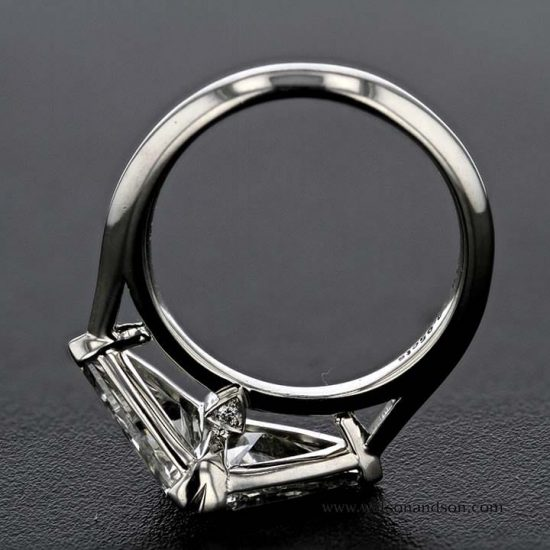 Custom Made Trilliant Cut Diamond Duo Ring 3