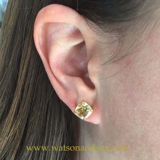 18K &Quot;Tiffany Sparkler&Quot; Citrine Earrings 5