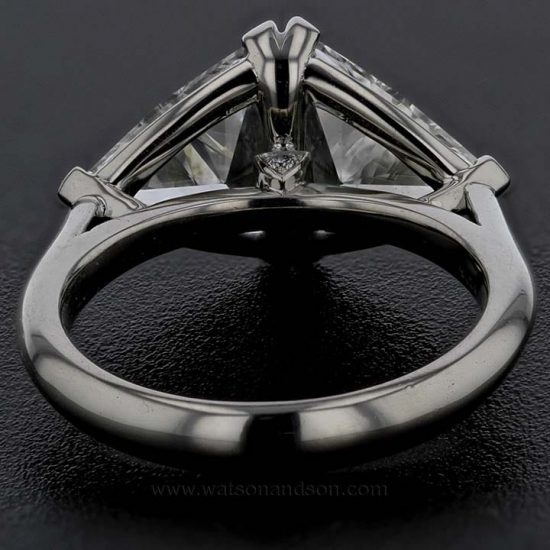 Custom Made Trilliant Cut Diamond Duo Ring 2