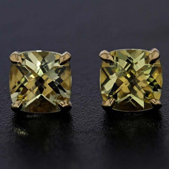 18K &Quot;Tiffany Sparkler&Quot; Citrine Earrings 1