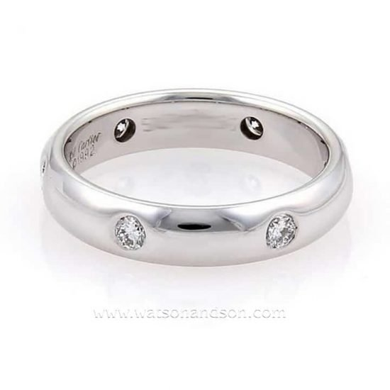 White Gold Cartier Stella 6 Wedding Band 1