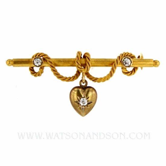 Victorian Heart Brooch 1