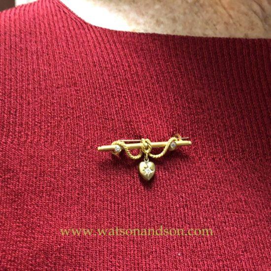 Victorian Heart Brooch 3