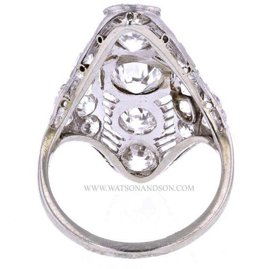Edwardian Platinum Diamond Dinner Ring 3
