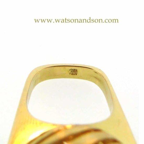 18K Love Spinner Ring 5