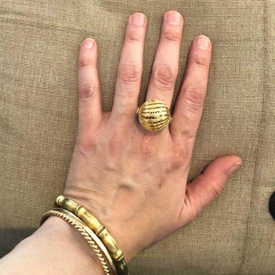 18K Love Spinner Ring 6