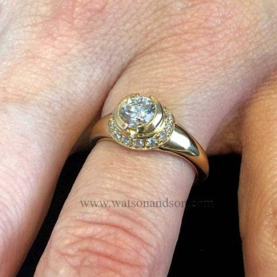 Bulgari Yellow Gold Diamond Solitaire 3