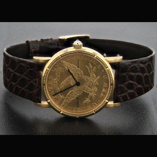 Midsize Corum Us 10 Dollar Gold Coin Watch 1