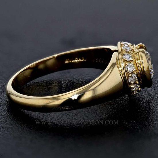 Bulgari Yellow Gold Diamond Solitaire 4