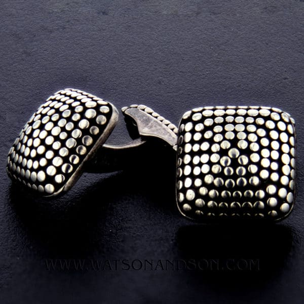 John Hardy Sterling Silver Dot Cufflinks 1