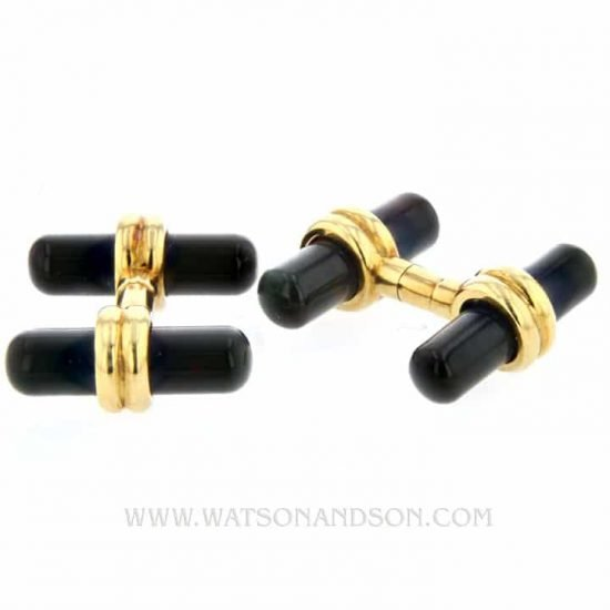 18K Blood Stone Cufflinks 2