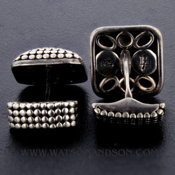 John Hardy Sterling Silver Dot Cufflinks 2
