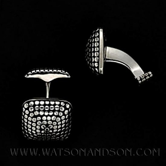 John Hardy Sterling Silver Dot Cufflinks 3