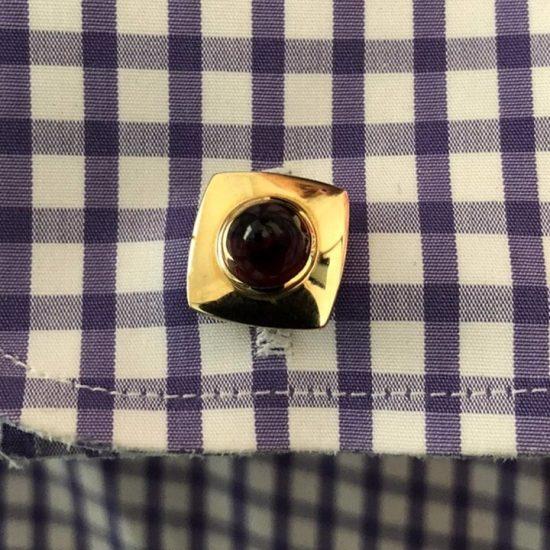 14K Cabochon Garnet Cufflinks 4