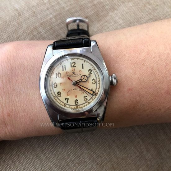 Rolex Oyster Perpetual Ovetto Bubbleback In Steel 3