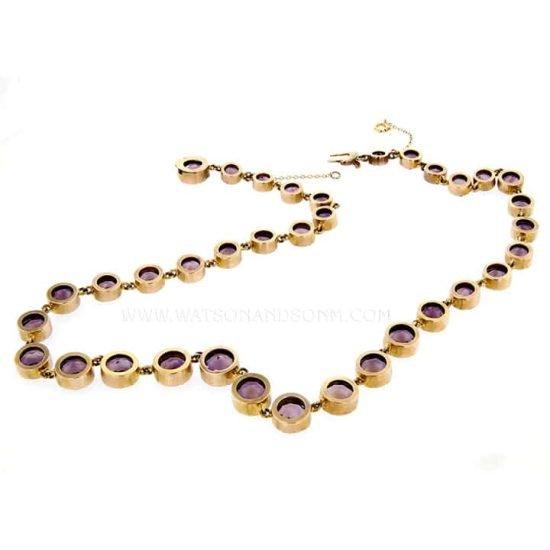 Victorian Amethyst Choker Necklace 5