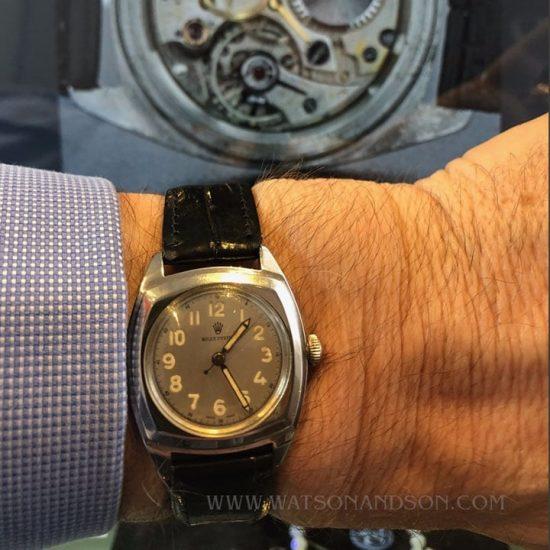 Rolex Oyster Army Strap Watch 4