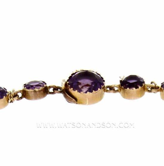 Victorian Amethyst Choker Necklace 3