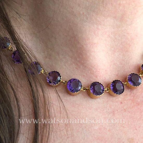 Victorian Amethyst Choker Necklace 7