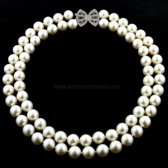 South Sea Double Strand Of Pearls 1