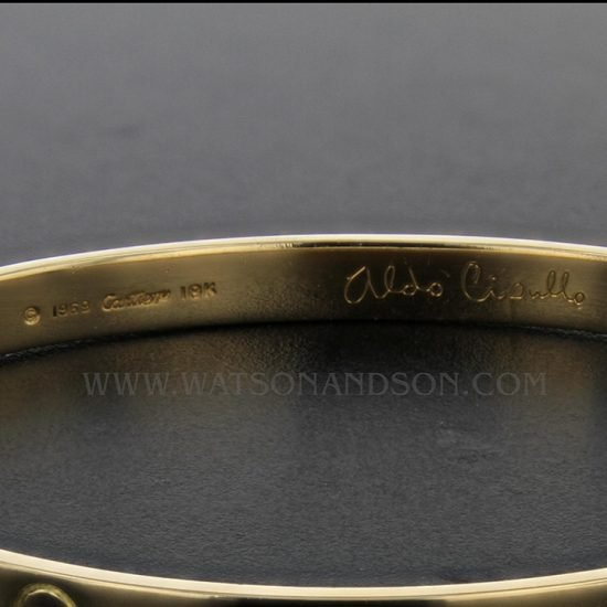 Gents Yellow Gold Cartier Love Bangle 2